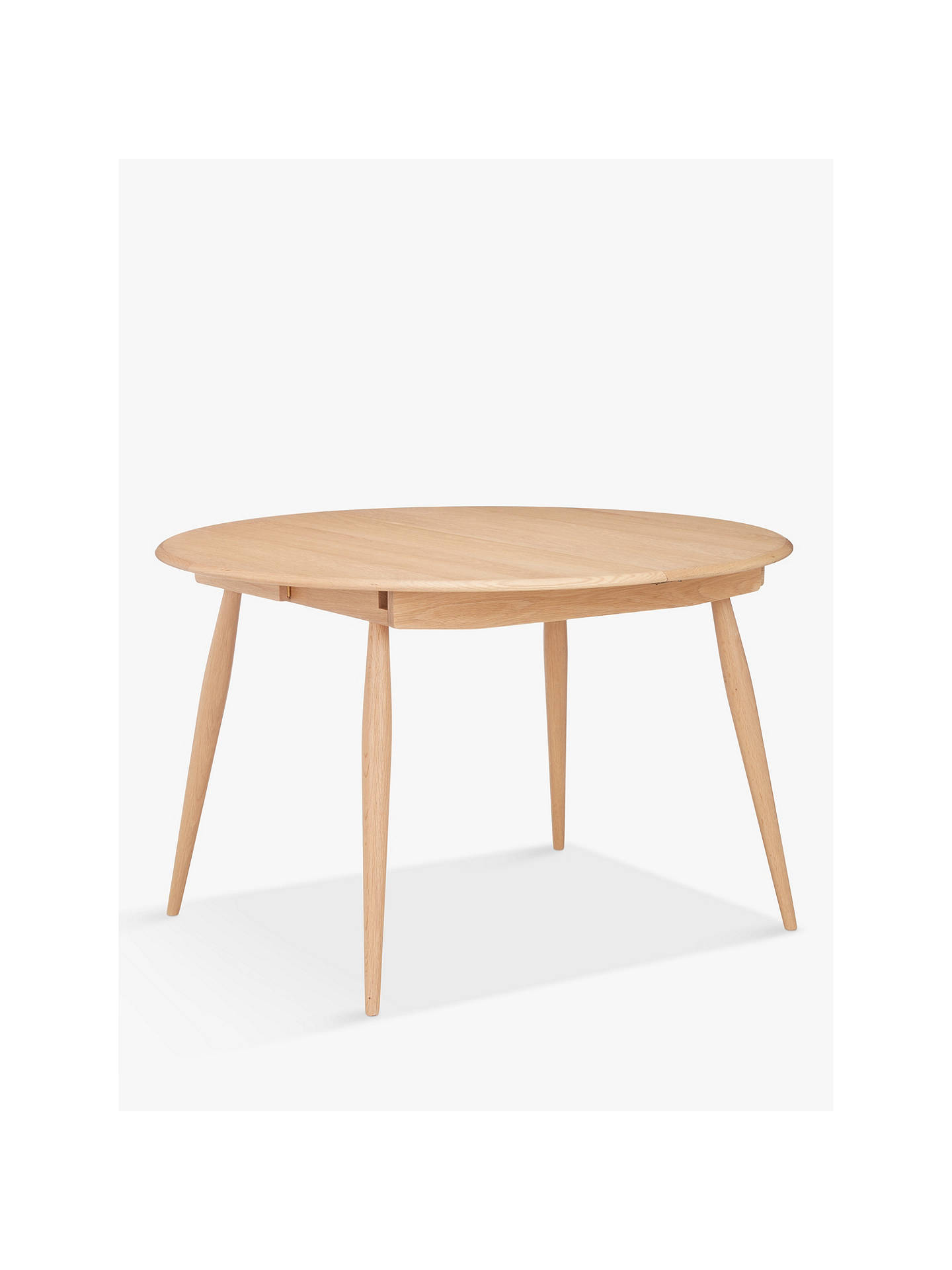 Ercol For John Lewis Shalstone 4 6 Seater Extending Round Dining Table Oak At John Lewis Partners