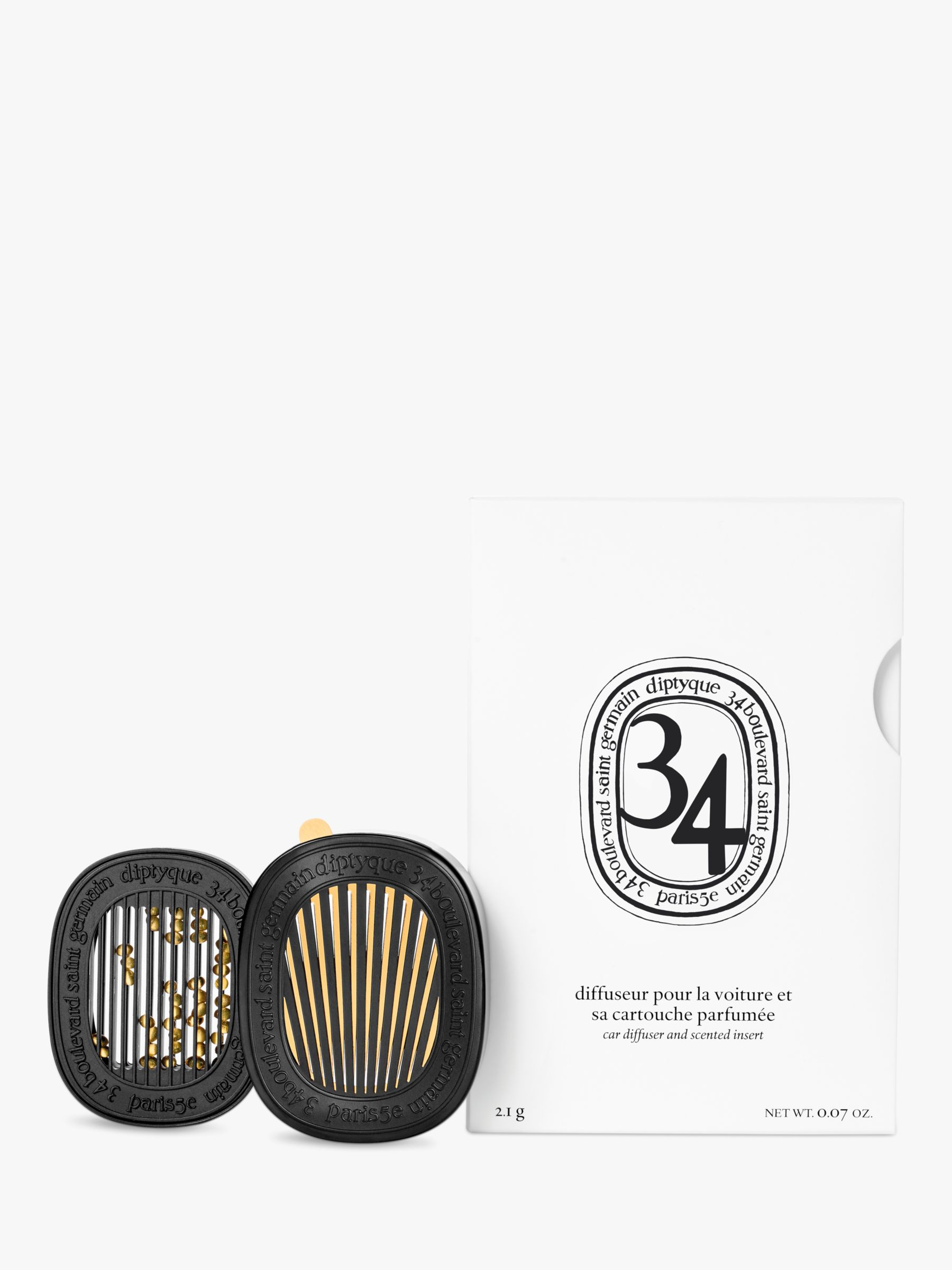 Diptyque Diptyque Car Diffuser with 34 Boulevard Germain Insert, 2.1g