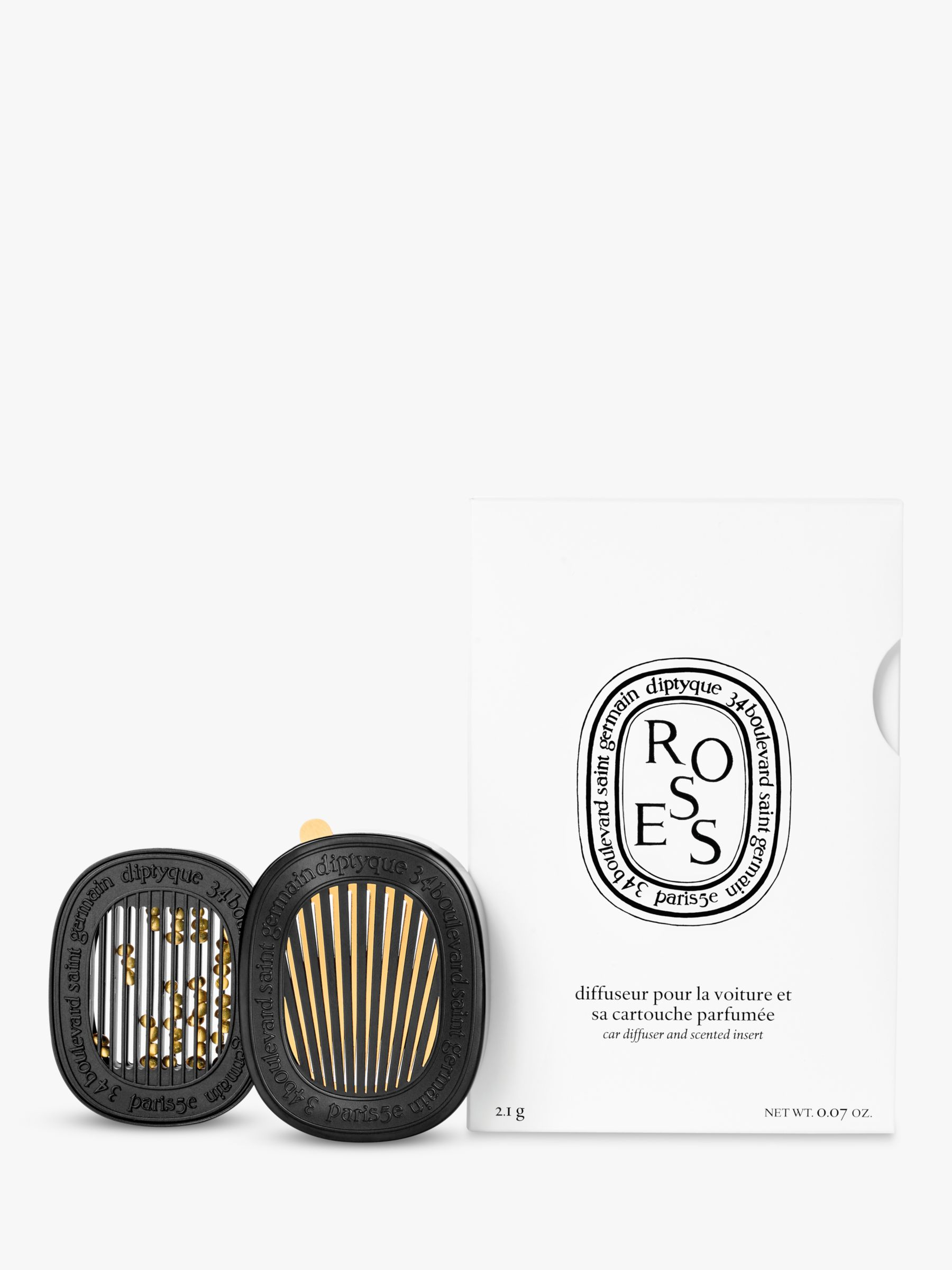 Diptyque Diptyque Car Diffuser with Roses Insert, 2.1g