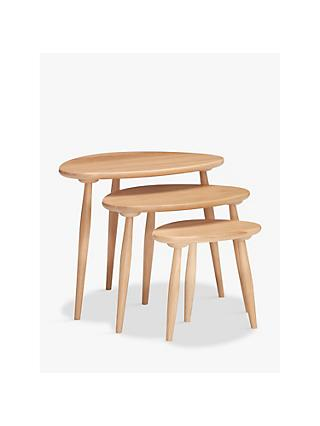 ercol for John Lewis Shalstone Nest of 3 Tables, Oak
