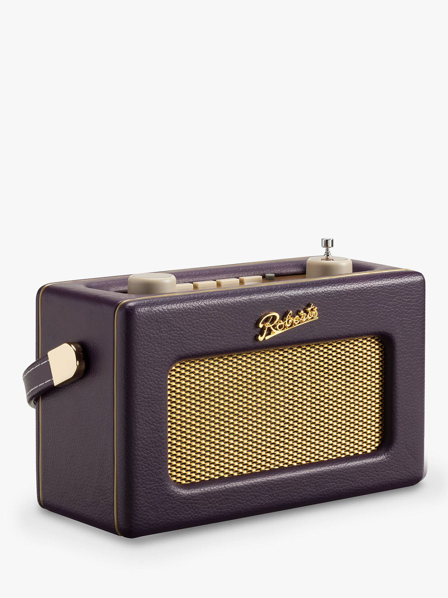 Buy ROBERTS Revival Uno DAB/DAB+/FM Digital Radio with Alarm, Mulberry Purple Online at johnlewis.com