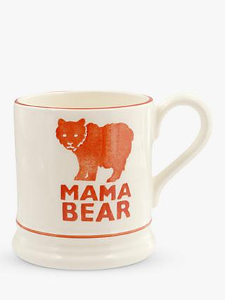 Emma Bridgewater Mama Bear Mum Half Pint Mug, 310ml, Orange/White