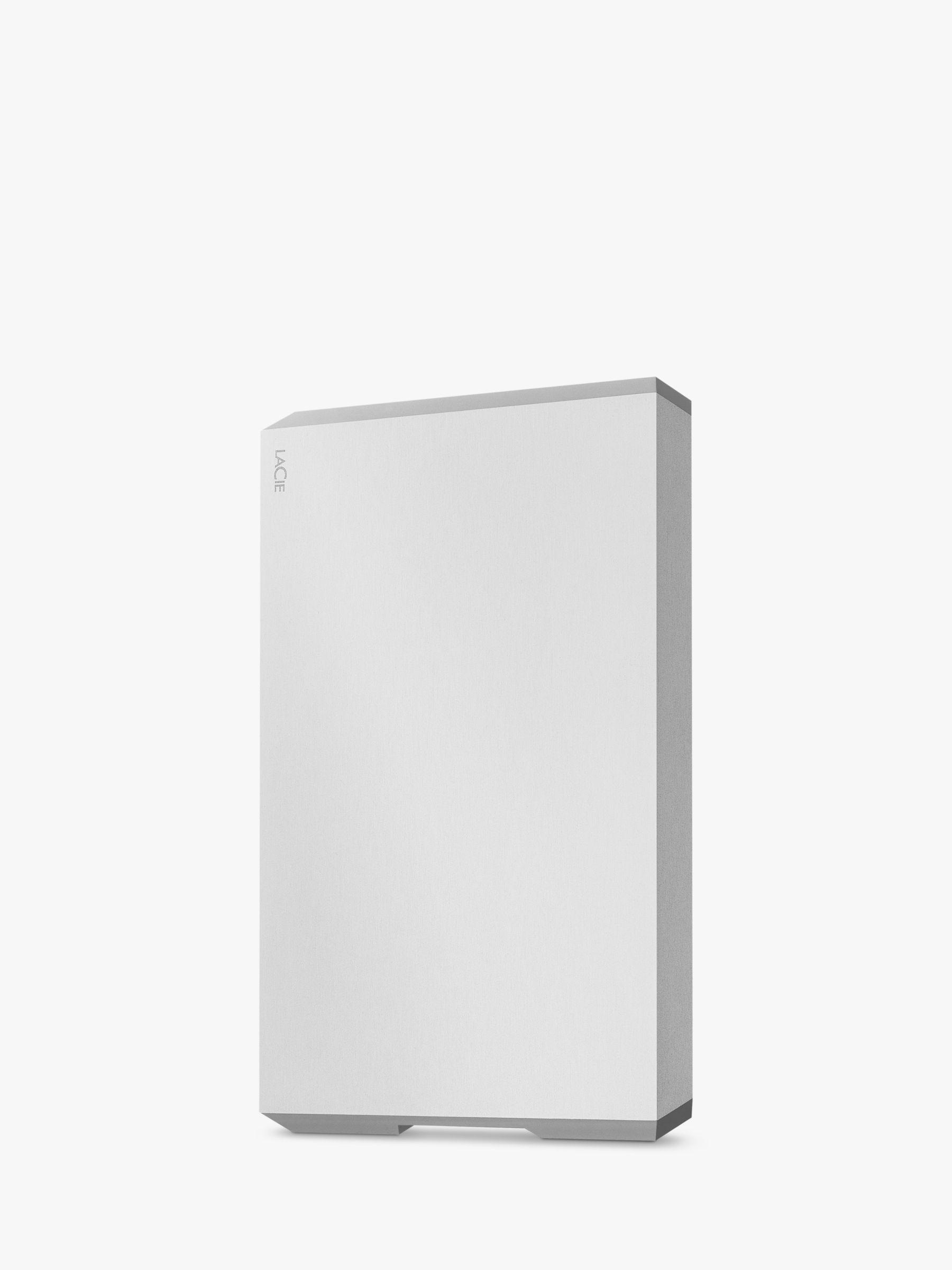 Lacie LaCie STHG2000400 External Hard Disk Drive, 2TB, USB Type-C, Silver
