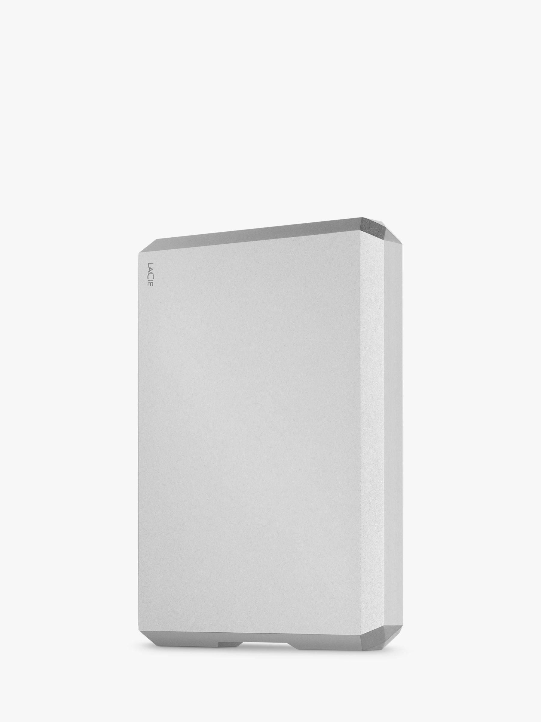 Lacie LaCie STHG4000400 External Hard Disk Drive, 4TB, USB Type-C, Silver