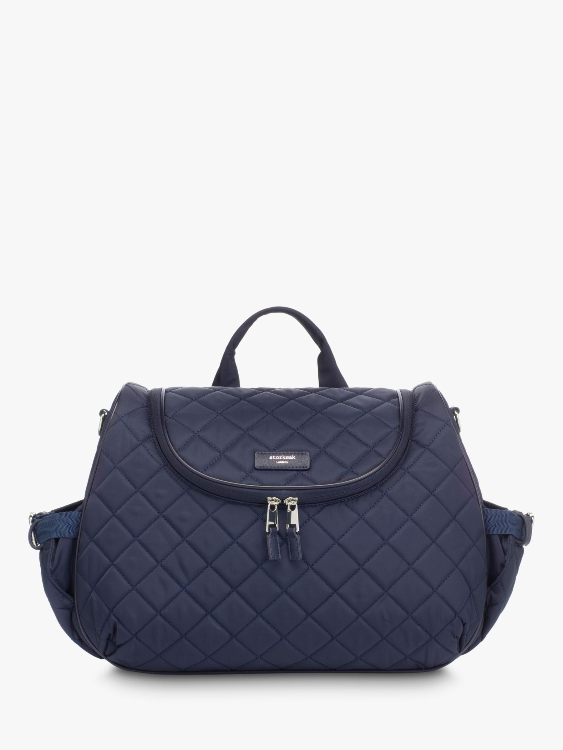 Storksak Storksak Poppy Quilted Convertible Backpack Changing Bag, Blue
