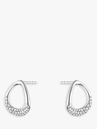 Georg Jensen Offspring Diamond Pave Stud Earrings, Silver