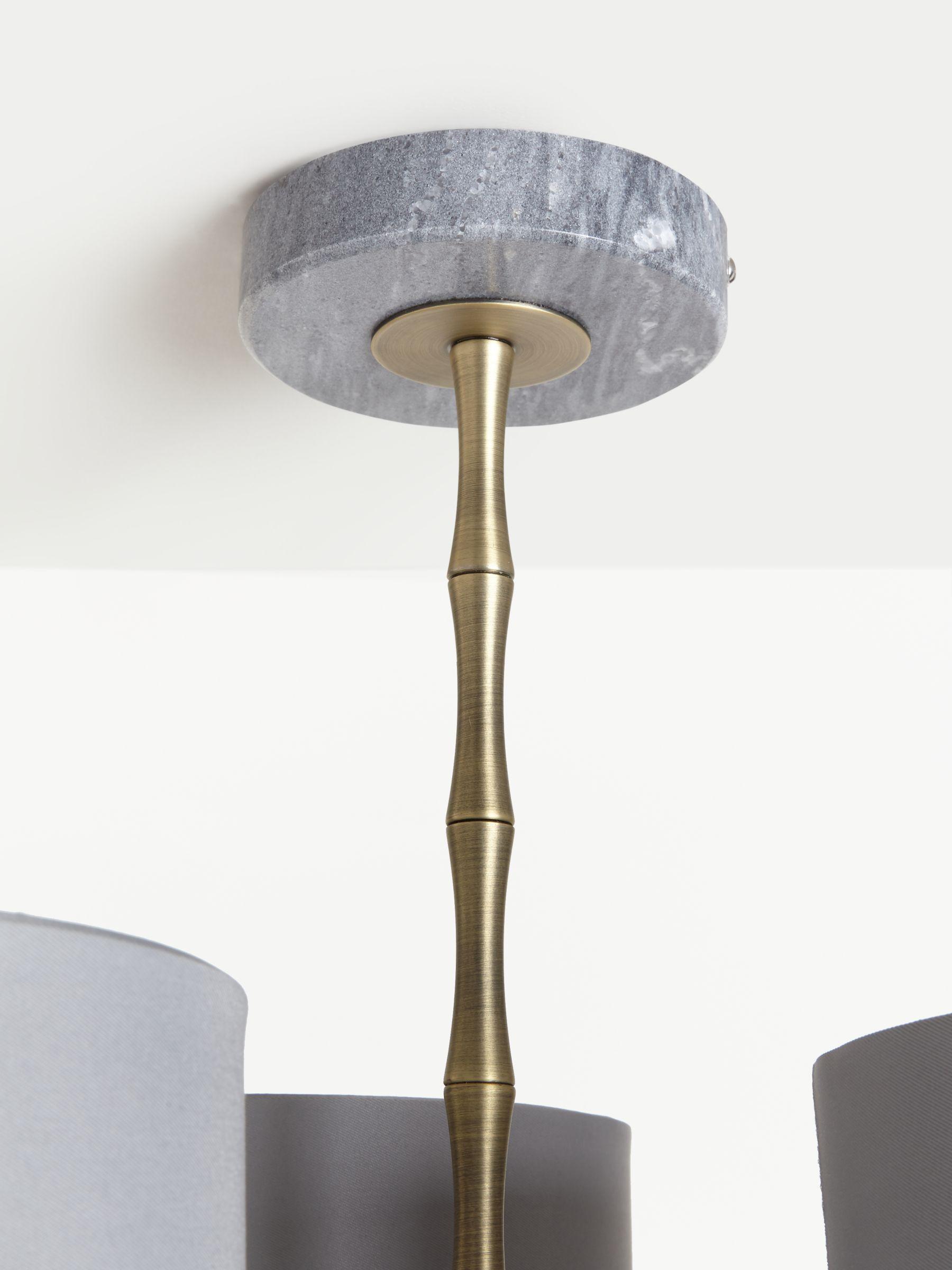 John Lewis Partners Bamboo Semi Flush Ceiling Light Grey Brass At John Lewis Partners