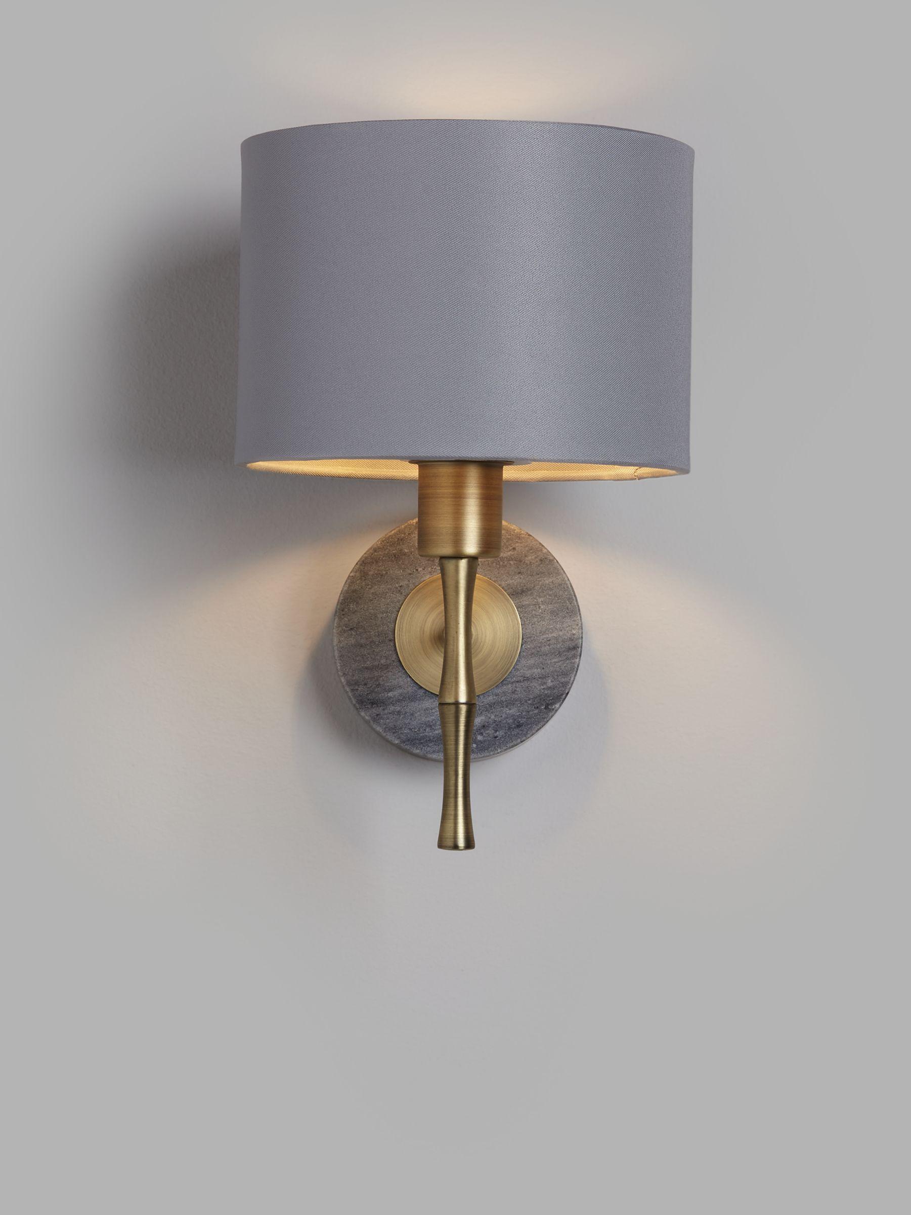 John Lewis & Partners Bamboo Wall Light, Grey/Brass
