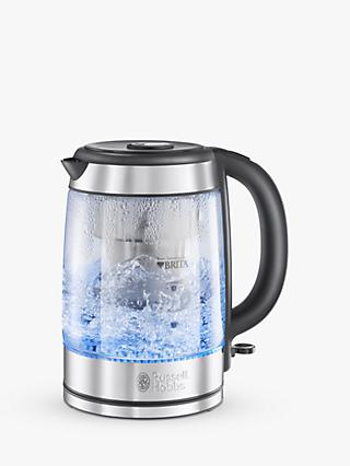 Russell Hobbs Brita Purity Glass Kettle, Silver