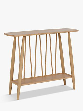 ercol for John Lewis Shalstone Console Table, Oak