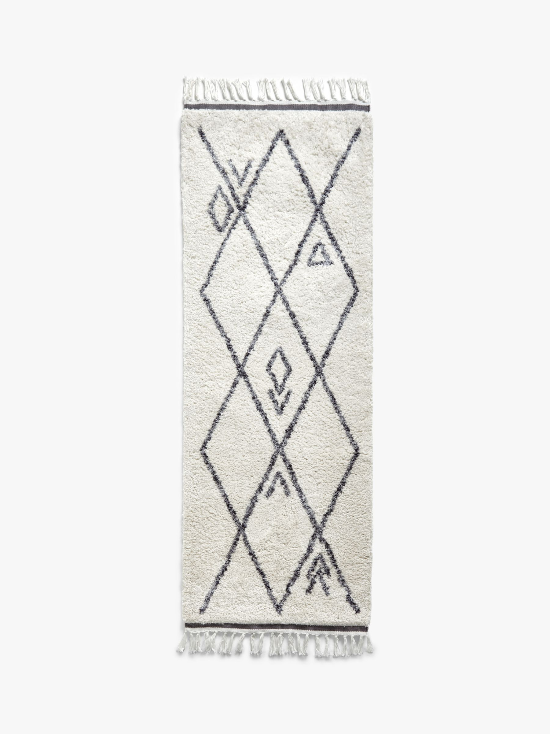 ANYDAY John Lewis & Partners Berber Runner Style Rug, L200 x W70 cm, Grey