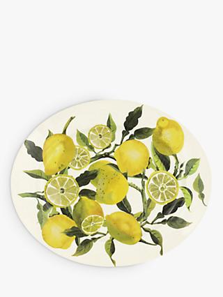 Emma Bridgewater Vegetable Garden Lemons Medium Serving Platter, 36cm, Yellow/Multi
