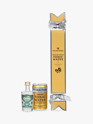 Fevertree One Gin and Indian Tonic Water Cracker, 5cl & 150ml