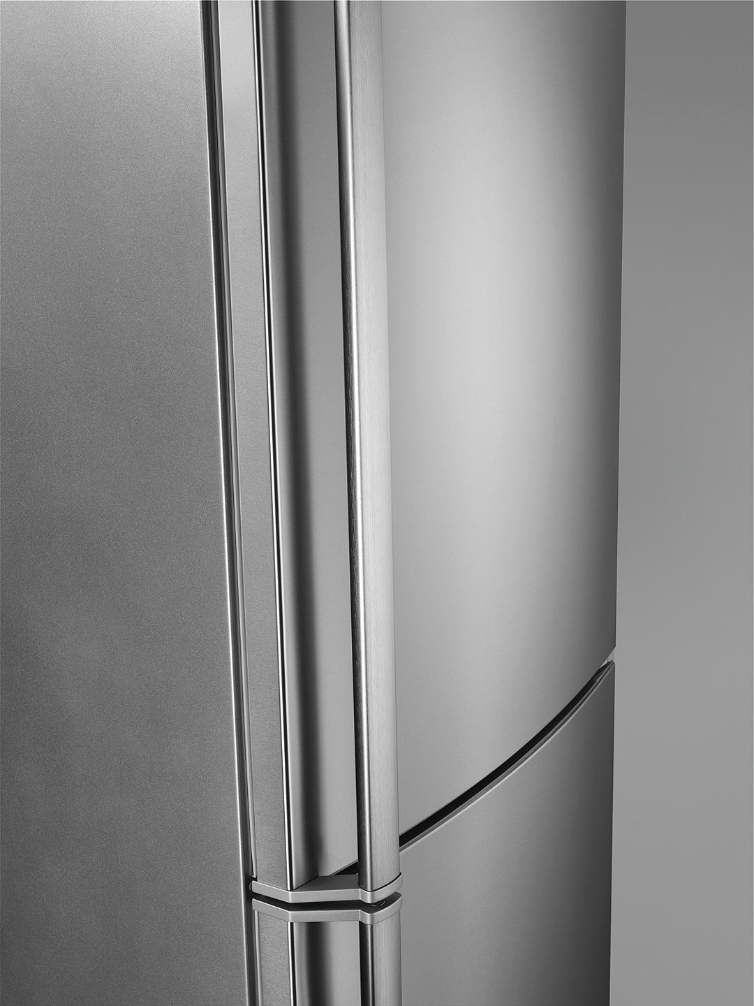 Buy AEG 7000 RCB73726KX Freestanding 60/40 Fridge Freezer, 60cm Wide,Stainless Steel Online at johnlewis.com