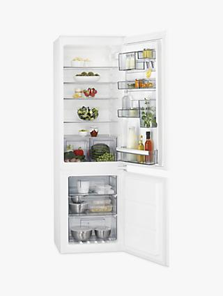 AEG SCB6182VNS Integrated 70/30 Fridge Freezer, Sliding Door Hinge, A++ Energy Rating, 54cm Wide, White