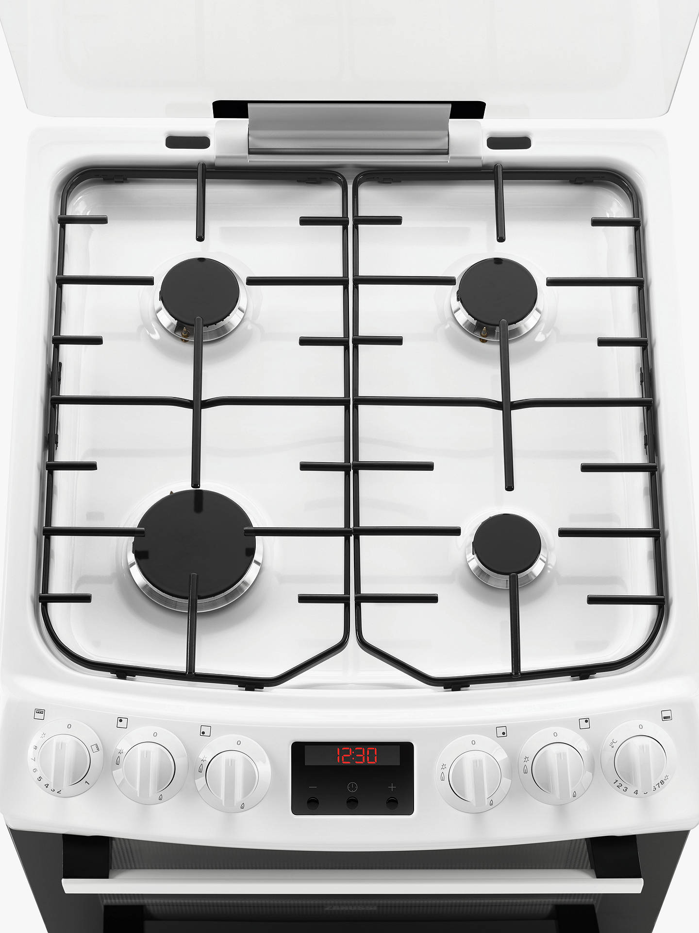 Buy Zanussi ZCG43250WA Freestanding Gas Cooker, A Energy Rating, White Online at johnlewis.com