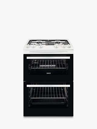 Zanussi ZCG63050WA Freestanding Double Gas Cooker, A Energy Rating, White