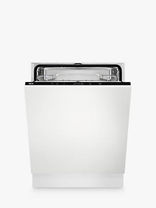 AEG FSB42607Z Integrated Dishwasher, A++ Energy Rating, White