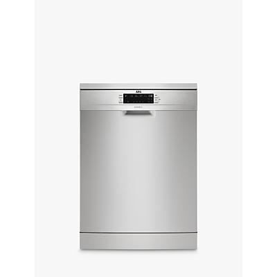 AEG FFB53940ZM Freestanding Dishwasher, Stainless Steel