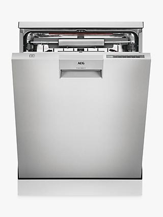 AEG FFE63806PM Freestanding Dishwasher, A Energy Rating, Silver