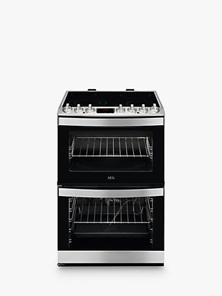 AEG CCB6761ACM Dual Electric Cooker, Stainless Steel