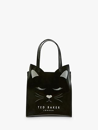 Ted Baker Purrcon Cat Small Icon Shopper Bag, Black
