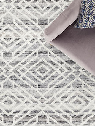 Buy ANYDAY John Lewis & Partners Aztec Indoor & Outdoor Rug, Grey, L240 x W170 cm Online at johnlewis.com