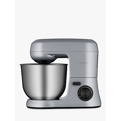 John Lewis & Partners JLSM618 Stand Food Mixer, Silver