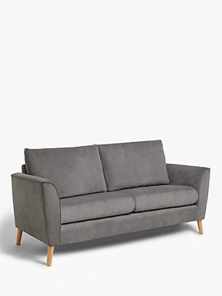 John Lewis & Partners Flare Small 2 Seater Sofa, Light Leg, Grace Charcoal