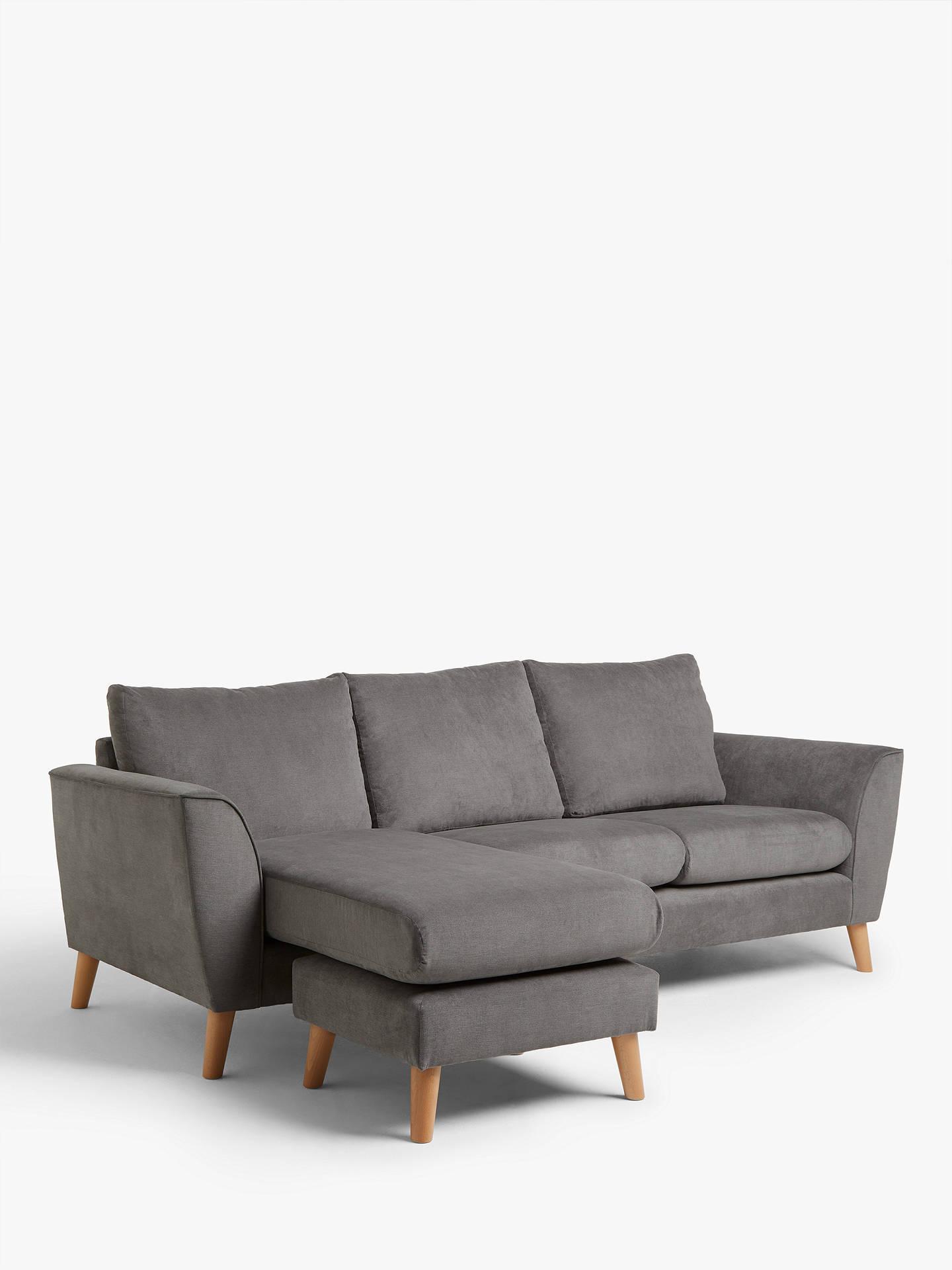John Lewis & Partners Flare Chaise End Sofa, Light Leg