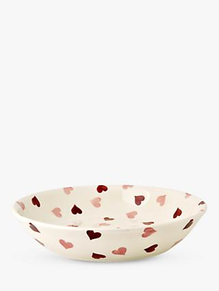 Emma Bridgewater Pink Hearts Medium Pasta Bowl, 23cm, Pink/Multi