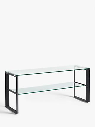 "John Lewis & Partners Tropez TV Stand for TVs up to 60"", Clear/Black"