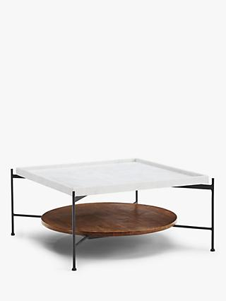 John Lewis & Partners + Swoon Rubin Coffee Table, White