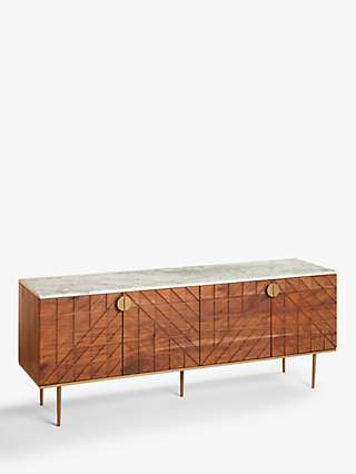 John Lewis & Partners Trinity TV Stand Sideboard for TVs up to 55, Brown