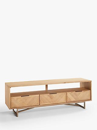 "John Lewis & Partners Estate TV Stand for TVs up to 65"", Natural"