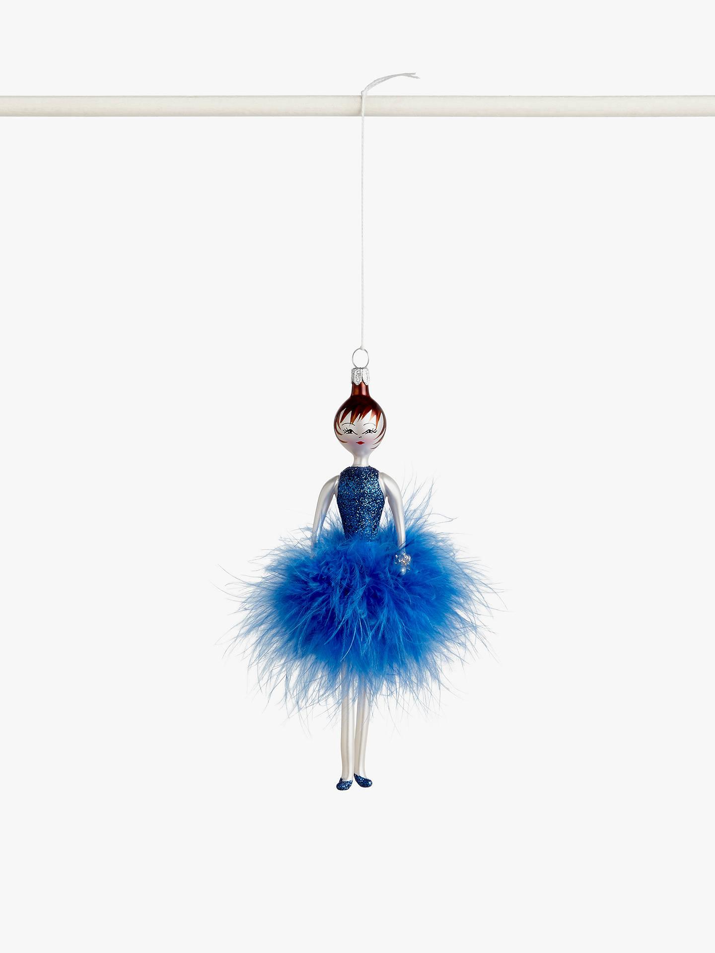 De Carlini Lady Tree Decoration, Blue Dress by De Carlini
