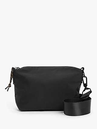 Kin Nylon Water Resistant Cross Body Bag, Black