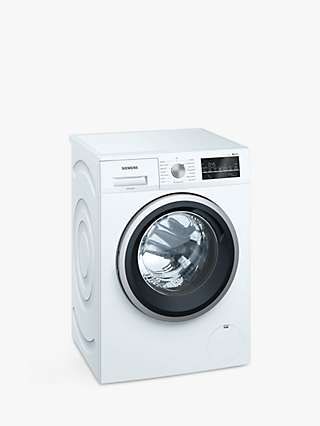 Siemens iQ500 WM14T488GB Freestanding Washing Machine, 8kg Load, 1400rpm Spin, White