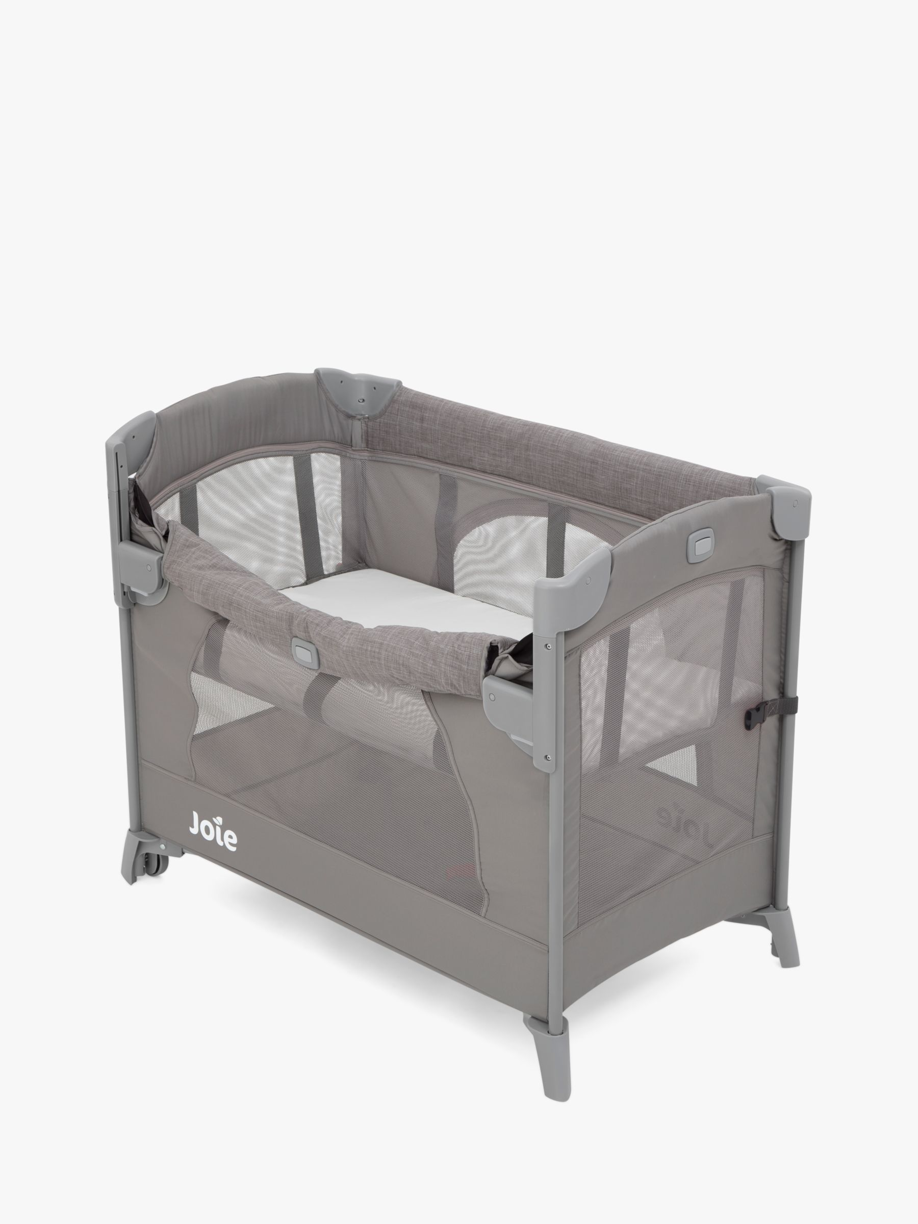 Joie Baby Joie Baby Kubbie Sleep Bedside Travel Cot, Foggy Grey