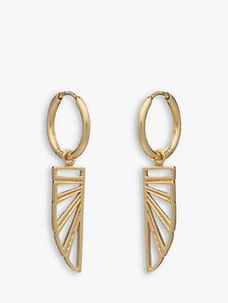 Rachel Jackson London Wing Charm Hoop Earrings