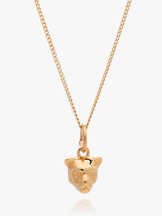 Rachel Jackson London Mini Panther Pendant Necklace, Gold