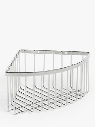 John Lewis & Partners Deep Corner Shower Basket