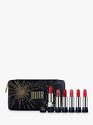 Dior Rouge Dior Couture Collection - Refillable Jewel Lipstick Edition Makeup Gift Set