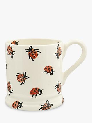 Emma Bridgewater Ladybird Half Pint Mug, 280ml, Red/Multi