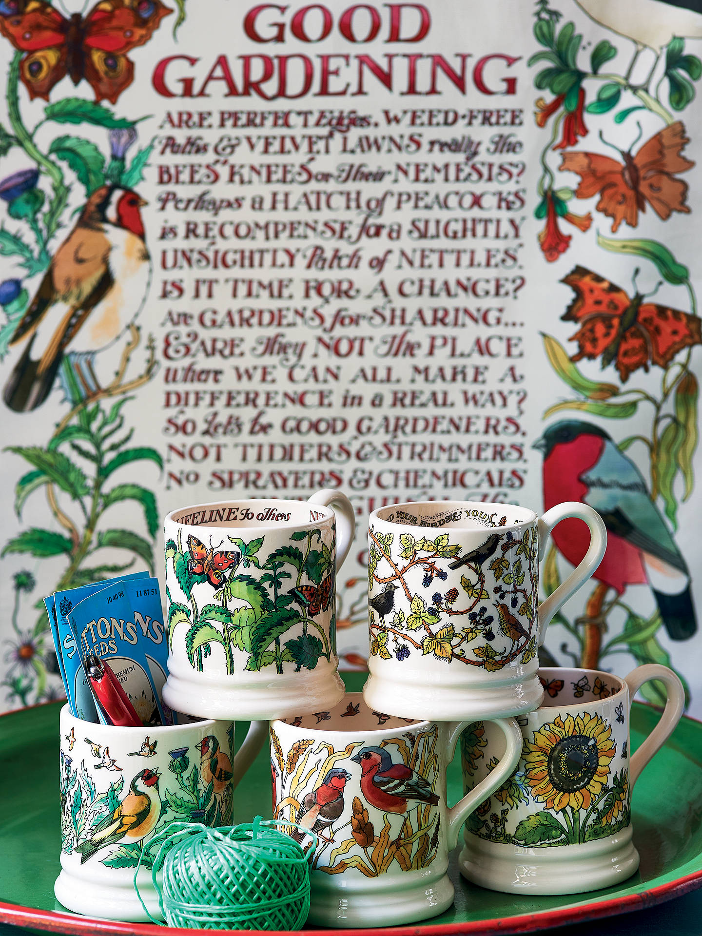 Buy Emma Bridgewater Good Gardening Nettles Half Pint Mug, 280ml, Green/Multi Online at johnlewis.com