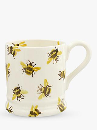 Emma Bridgewater Bumble Bee Half Pint Mug, 280ml, Yellow/Multi