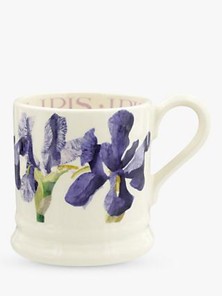 Emma Bridgewater Blue Iris Half Pint Mug, 280ml, Purple/Multi