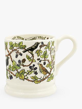 Emma Bridgewater Good Gardening Brambles Half Pint Mug, 280ml, Green/Multi
