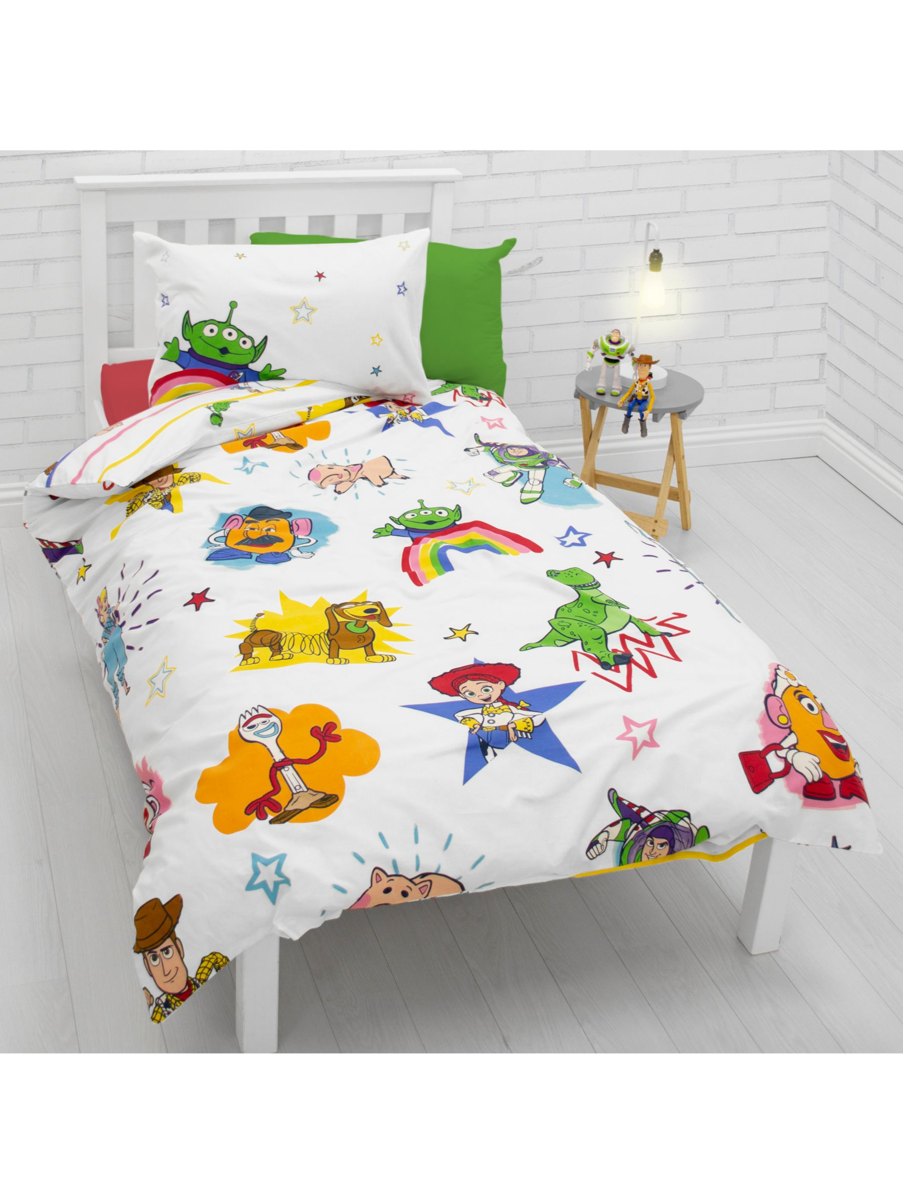 Toy Story Toy Story Reversible Duvet Cover and Pillowcase Set, Single, Multi
