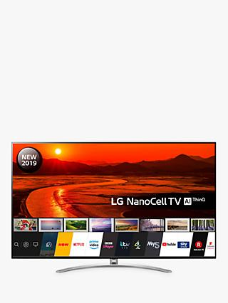 "LG 75SM9900PLA LED HDR NanoCell 8K Ultra HD Smart TV, 75"" with Freeview Play/Freesat HD, Cinema Screen Design, Dolby Atmos & Crescent Stand, Black"